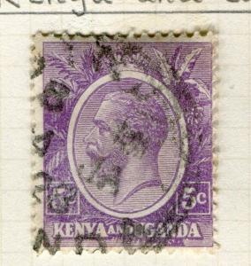 BRITISH KUT; KENYA 1922 early GV issue fine used 5c. value