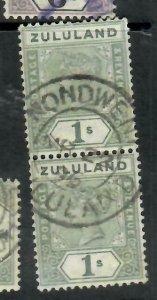 ZULULAND  (PP2305B)  QV  1/-   SG 26  ESHOWE  VERT PR      VFU