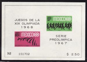 Mexico #C329a F-VF Mint NH ** Mexico City Olympics