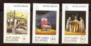 Pitcairn Islands  #  160 - 62  Mint  N H