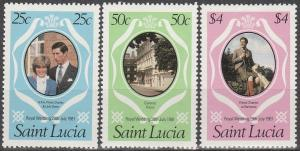 St Lucia #543-5 MNH F-VF   (V2581)