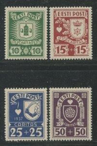 Estonia 1937 Charity set Sc# B32-35 NH