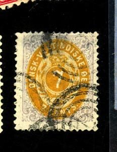 Danish W Indies #9 Used FIne THin Cat $95