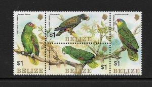 BIRDS - BELIZE #739 PARROTS  MNH