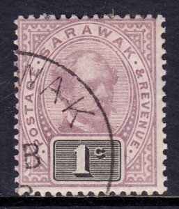 Sarawak - Scott #8 - Used/CTO - Pencil on reverse - SCV $1.25