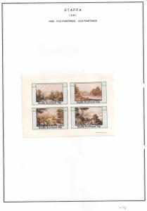 SCOTLAND - STAFFA - 1981 - Old Paintings #1  - Imperf 4v Sheet - MLH