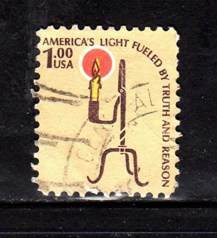 #1610  $1.00  RUSH LAMP        FANCY CANCEL   USED     b