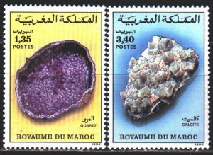 Morocco. 1992. 1209-10. Minerals. MNH.