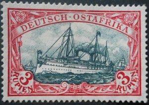 German East Africa 1915 Three Rupien Michel 39IIAd u/mint
