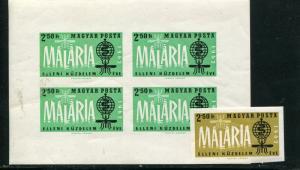 Hungary Imperfrated Malaria sheet and  single VF NH