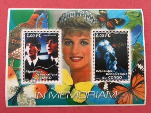 Congo 2001 In Memory Beatle John Music Einstein Sciences Art Diana People Stamps