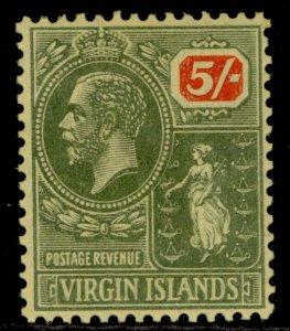 BRITISH VIRGIN ISLANDS GV SG101, 5s green & red/yellow, LH MINT. Cat £24.