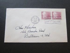 Canada 1963.3.5 FDC