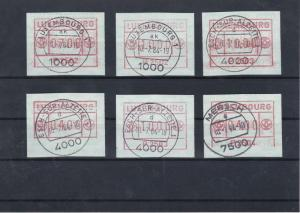 Luxembourg A.T.M Machine Stamps Labels Used Ref: R5291