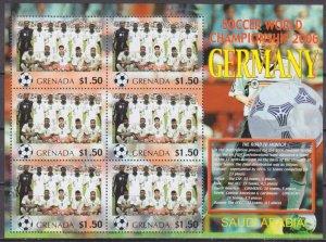 2006 Grenada 5737KL 2006 FIFA World Cup Germany( Saudi Arabia ) 9,00 €