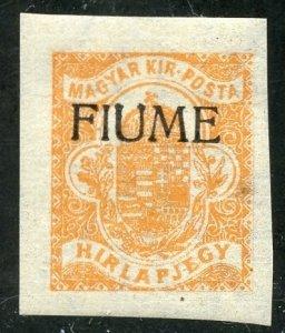 Fiume Scott P1 Unused F-VFHOG - 1918 Newspaper Stamp - SCV $4.75