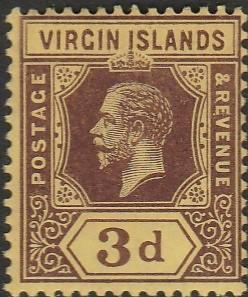 British Virgin Islands, #42 Unused  From 1913