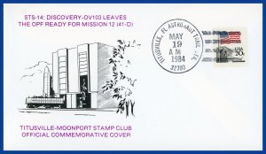 US Space Cover - Discovery STS-12 Leaves Orbiter Processing Facility '84