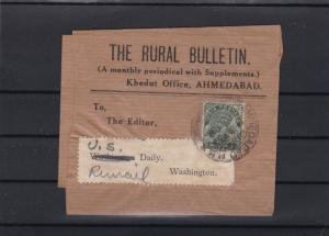 india ahmedabad newspaper wrapper with stamp ref 13574