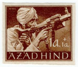 (I.B) India Cinderella : Azad Hind 1a + 1a (proof)