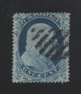 US#18 Blue - Type I - Cat:$650.00 - Grid Cancel