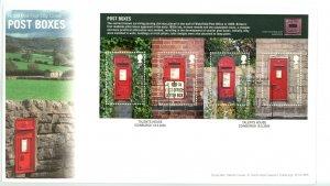 Great Britain 2009 FDC Post Boxes Souvenir Sheet   Sc# 2679