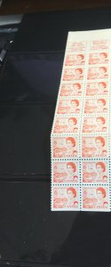 Canada #BK60a 6c Orange Pane  of 25 + 2 Labels NF in Complete Booklet Cat.$10.50