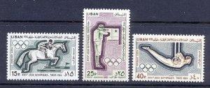 LEBANON - LIBAN MH SC# C424-C426 OLYMPICS 1964 TOKYO