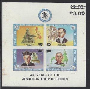 1737r 400th Anniv Jesuits/Rizal/Faura/Loyola/Urios Surcharge CV$5