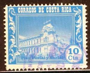 Costa Rica; 1967: Sc. # RA32: O/Used Cpl. Set