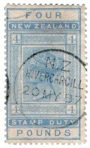 (I.B) New Zealand Revenue : Stamp Duty £4 (Invercargill)