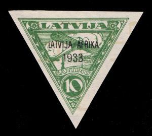 GENUINE LATVIA SCOTT #C9 MINT OG NH OVERPRINT - SCV $60 - PRICED TO SELL