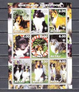 Altaj, 2000 Russian Local. Sheepdogs sheet of 9. ^