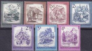 Austria #958-63, 964  MNH CV $3.30  (Z3038)