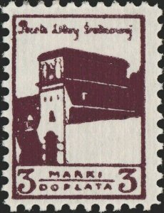 CENTRAL LITHUANIA / MITTELLITAUEN - 1921 Mi.P.4.A 3M Mint* - ref.916g