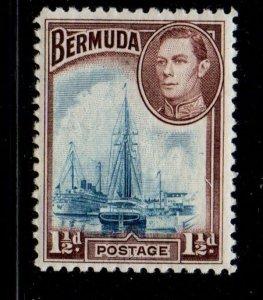 Bermuda Sc 119 1938 1 1/2d G VI & Hamilton Harbour stamp mint