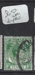 MALAYA PENANG  (P0704BB)  KGVI   8C SG 10  VFU