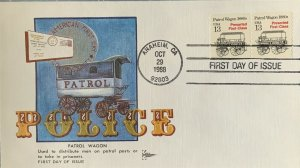 GillCraft 2258 Police Patrol Wagon Cover Honoring American First Day Cover Soc