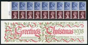 FX1 Christmas 1978 1 Pound 60p Booklet Complete Cylinder B3/B8 No Dot