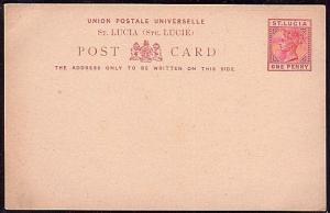 ST LUCIA QV 1d postcard unused.............................................32083