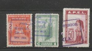 MX-94 fiscal revenue stamp c Shipping note - Costa Rica