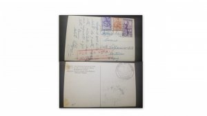 U) 1946, ITALY, FROM ITALY TO MONTEVIDEO, BY AIR MAIL, POSTAL