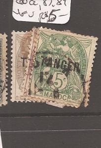French Morocco Y&T 80-5,80a,87,89 VFU (3cai)