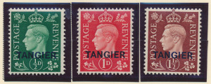 Great Britain, Offices In Morocco/Tangier Stamps Scott #515 To 517, Mint Hing...