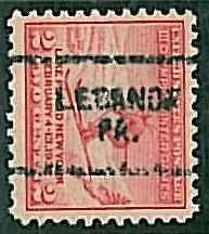 USA - OLYMPIC GAMES 1932 LAKE PLACID - pre-stamped 2 CENT - LEBANON, PA