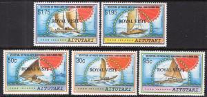 Aitutaki 469-473 Royal Visit MNH VF
