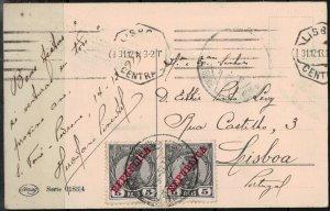 St Thomas Postcard 1912 SC 107 Circular