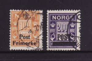 Norway 143-144 U Numerals