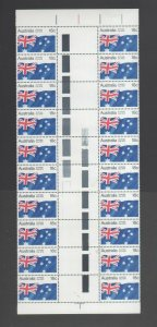 Australian Stamps 1978 18c Australia Day part Sheet MUH X20 Numbered block Mint