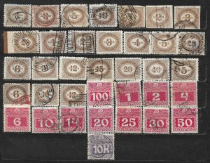 COLLECTION LOT OF 36 AUSTRIA POSTAGE DUE 18941+ STAMPS CLEARANCE CV + $40